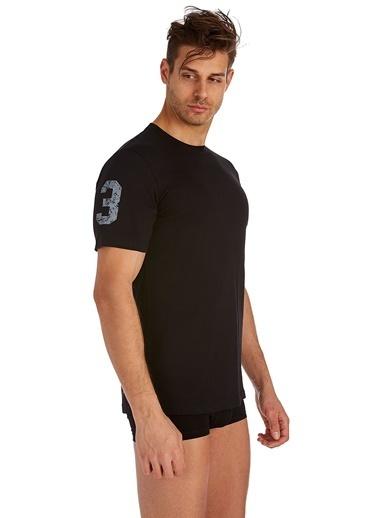U.S. Polo Assn. Yuvarlak Yaka T-Shirt Siyah